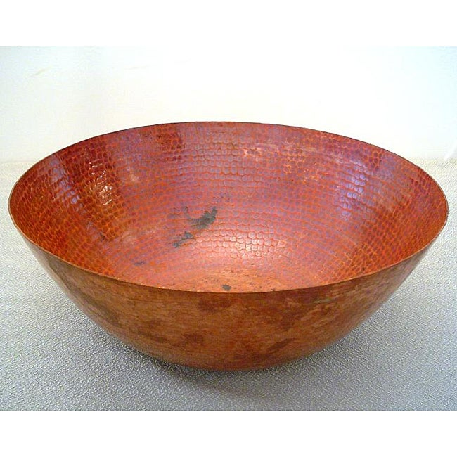 Hand-hammered Fired Copper Vessel Sink