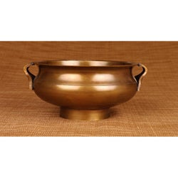 Brass Antiqued 24-oz Urli Sculpture (India)