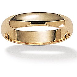 PalmBeach 14k Yellow Gold Men's Polished Band (4 mm)