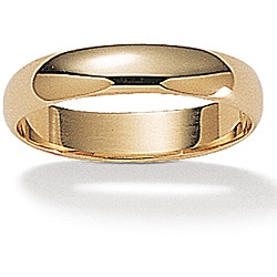 Toscana Collection 14k Yellow Gold Men's Polished Band (4 mm)