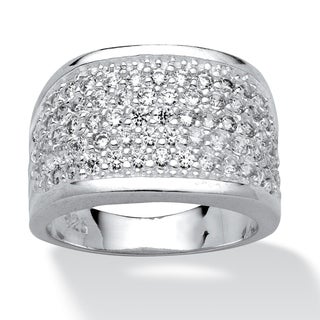PalmBeach 3.60 TCW Round Cubic Zirconia Sterling Silver Ring Classic CZ