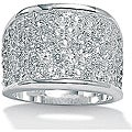 Ultimate CZ Sterling Silver Cubic Zirconia Band-style Ring