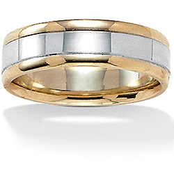 PalmBeach 10k Two-tone Gold Men's Band (5.6 mm)
