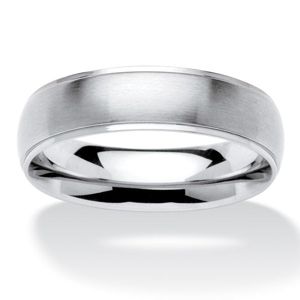 PalmBeach Men's Comfort Fit Wedding Band in Stainless Steel
