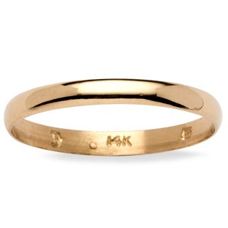 PalmBeach 14k Yellow Gold Men's Domed Band (3 mm)
