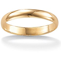 Toscana Collection 14k Yellow Gold Men's Domed Band (3 mm)