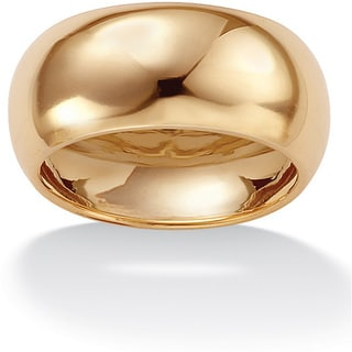 PalmBeach 10k Yellow Gold Women's Domed Wide Band (9 mm) Tailored