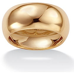 Toscana Collection 10k Yellow Gold Men's Domed Wide Band (9 mm)