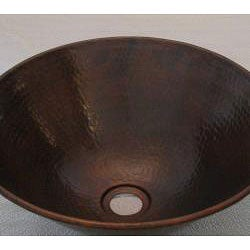 Vintage Dark Solid Copper 16-inch Vessel Sink