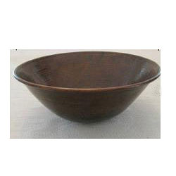 Vintage Dark Solid Copper 16-inch Vessel Sink
