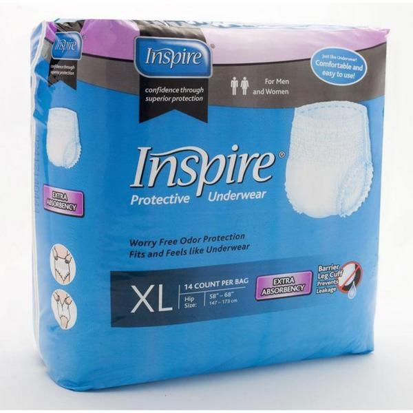 Inspire Extra Absorbency Extra Large Protective Underwear (Case of 56)