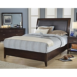 Cushioned Back Queen-size Wood Sleigh Bed