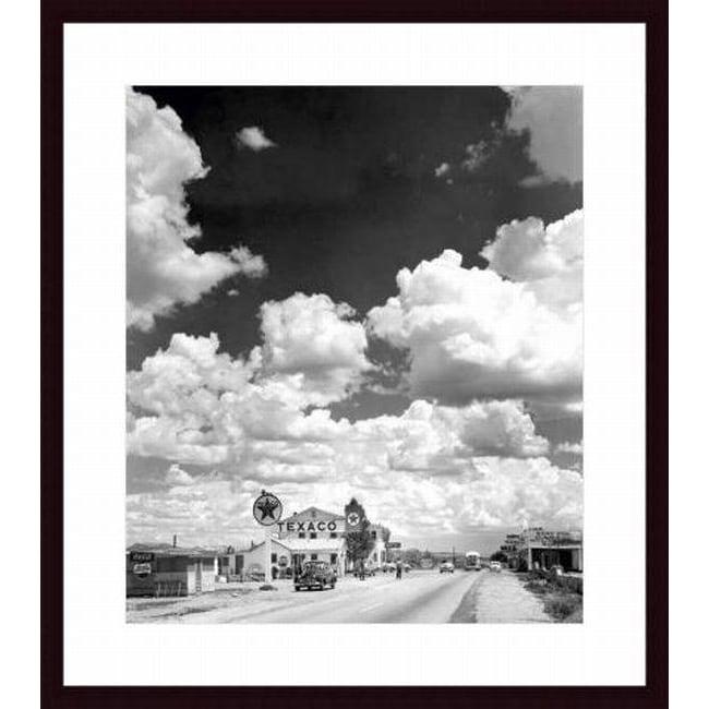 Andreas Feininger 'Texaco Gas Station on Route 66, Arizona' Framed Print