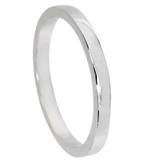 NEXTE Jewelry White Rhodium Overlay Men's Band (2 mm)