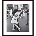 Alfred Eisenstaedt 'V-J Day at Times Square' Wood-framed Art Print
