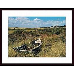 Alfred Eisenstaedt 'Dory in Marsh, Menemsha Harbor, Martha's Vineyard' Wood Framed Art Print