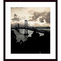 Mansell 'San Francisco-Oakland Bay Bridge, 1938' Wood-framed Art Print