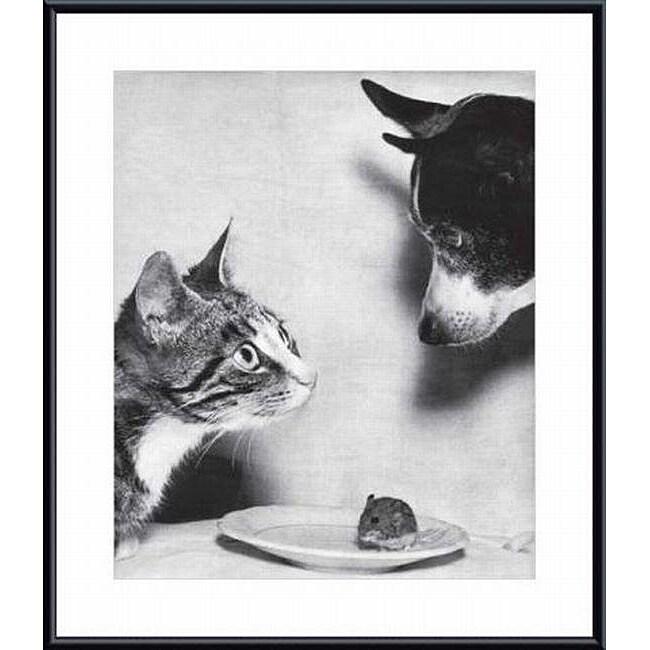 Jytte Bjerregaard Muller 'Cat and Mouse, and Dog, 1955' Metal Framed Art Print