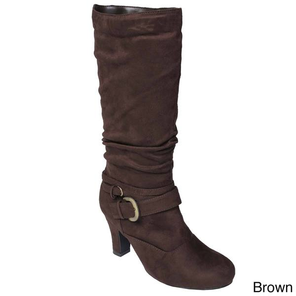 Glaze by Adi Women's Slouchy Faux Suede Tall Boots