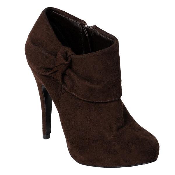 Journee Collection Women's 'Safari-2' Faux Suede High Heel Platform Booties