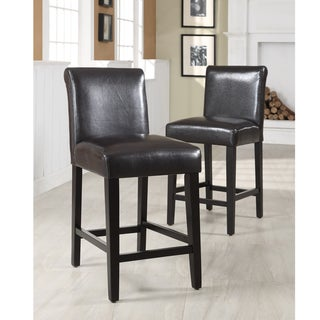 Bennett Brown Faux Leather Barstools (S