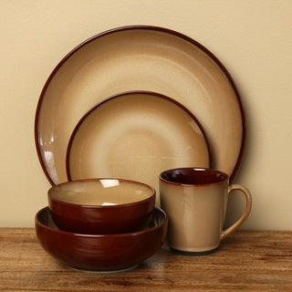 Sango 40-piece Nova Brown Stoneware Dinnerware Set