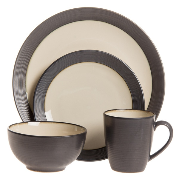 Sango 40-piece Bistro Cream Stoneware Dinnerware Set