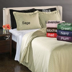 Luxor Treasures Egyptian Cotton 300 Thread Count Stripe 3-piece Duvet Cover Set