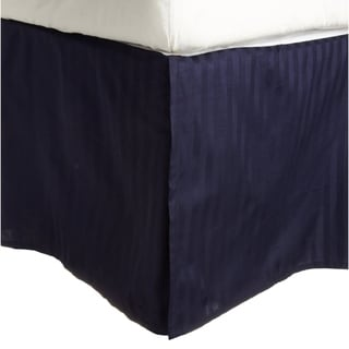 Egyptian Cotton 300 Thread Count Striped 15 in. Drop Bedskirt