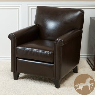 Christopher Knight Home Leeds Classic Brown Bonded Leather Club Chair