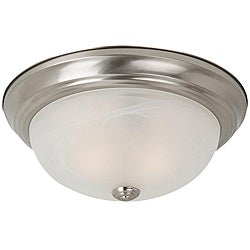 Windgate 2-light Brushed Nickel Fluorescent Flush Mount Fixture