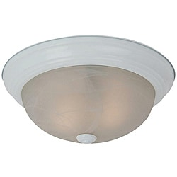 Windgate Three-light White Finish Flourescent Flush Mount Light