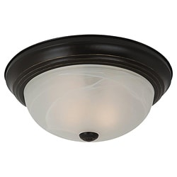 Sea Gull Lighting Windgate 3-light Bronze Flush Mount Fixture
