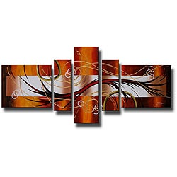'Abstract 198' 5-piece Art Set