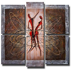 'Dancing in the Wind' 5-piece Hand Painted Canvas Art Set