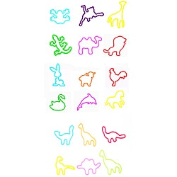 Silly Bandz Animal Shaped Silicone Rubber Band Bracelet Set (48 Piece)