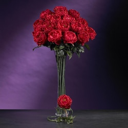 Artificial Large Rose Stems (Set of 12)