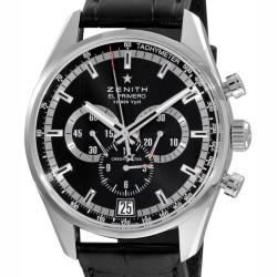 Zenith Men's 'El Primero' Black Face Chronograph Watch