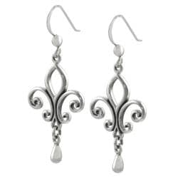 Tressa Sterling Silver Fleur de Lis Earrings