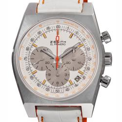 Zenith Women's 'Vintage 1969' White Face Chronograph Watch