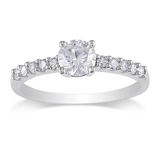 Miadora 14k White Gold 3/4ct TDW Diamond Solitaire Engagement Ring (H-I, I2-I3)