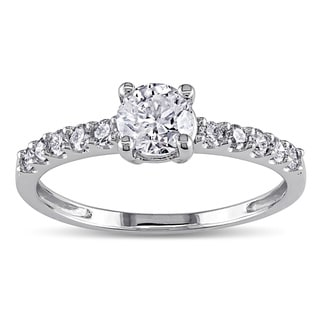 Miadora Signature Collection 14k White Gold 3/4ct TDW Diamond Engagement Ring (H-I, I2-I3)