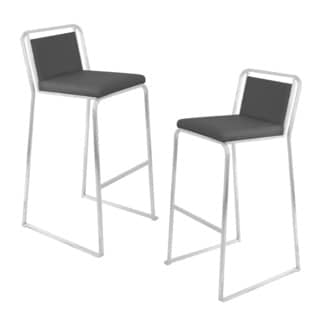 Black Cascade Bar Stools (Set of 2)
