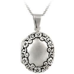 Mondevio Sterling Silver Oval Locket Necklace