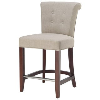 Safavieh Parker Curved Back Mahogany Counter Stool
