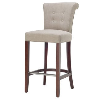 Safavieh Parker Curved Back Mahogany Bar Stool
