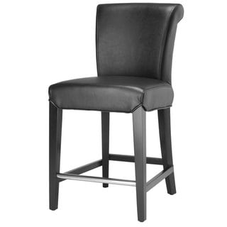 Safavieh Madison Black Leather Counter Stool