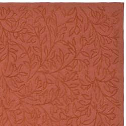 Martha Stewart Sprig Begonia Orange Cotton Rug (5' 6 x 8' 6)