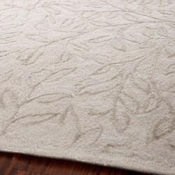Martha Stewart Sprig Myrtle Grey Cotton Rug (8'6 x 11'6)