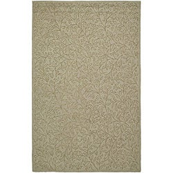 Martha Stewart Sprig Myrtle Grey Cotton Rug (8'6 x 11'6)